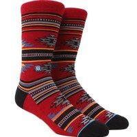 Stance Flagstaff Crew Socks - Mens Socks - Red - One
