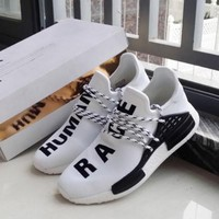 """""""Adidas"""" NMD Human Race White Leisure Running Sports Shoes"""