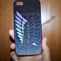 Attack onTitan Scouting Legion Jiyu no Tsubasa II Case for Samsung S3,S4, iPhone 4,4s, iPhone 5.5s, iPhone 5c from Ortelu
