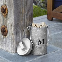Galvanized Metal Pet Treat Canister