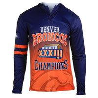 Denver Broncos Super Bowl XXXIII  Official NFL Champions Poly Hoody Tee