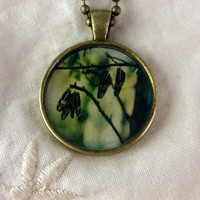 Butterfly Garden Photographic Pendant