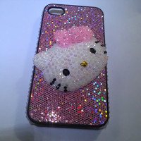 Iphone 4 Hello Kitty Glitter Girl Case
