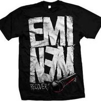 EMINEM - Recovery Microphone - T SHIRT S-M-L-XL-2XL Brand New - Official T Shirt