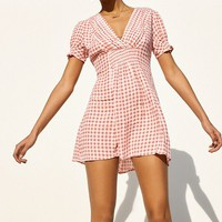 UO Molly Smocked Gingham Mini Dress | Urban Outfitters