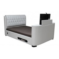 Heartlands Furniture Cosmo   Cosmo PU Leather TV Bed Frame   Bedsdirectuk.net
