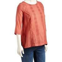 Old Navy Maternity Hi Lo Embroidered Top