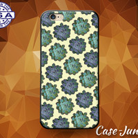 Succulent Plants Pattern Cactus Hipster Cute Custom Case For iPhone 5/5s/5c and iPhone 6 and 6+, iPhone 6s, iPhone 6s Plus iPhone SE Case