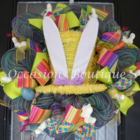 XL Easter Wreath, Easter Decoration, Spring Wreaths, Wreath for Door, Front door Wreaths, Whimsical Wreath, Ready to Ship