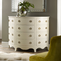 Painted Demilune Cabinet