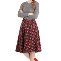 ModCloth 90s Long A-line Guess Indeed! Skirt
