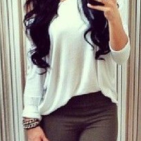 Casual Lace Patchwork T-Shirt