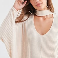 Silence + Noise Sky Open Mock-Neck Sweater | Urban Outfitters