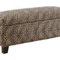 Woodbridge Home Designs Clair Upholstered Storage Entryway Bench