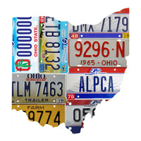 Ohio License Plate wall decal