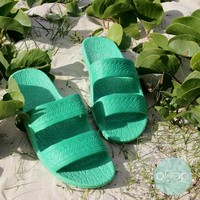 Green Jandals ® -- Pali Hawaii Hawaiian Jesus Sandals