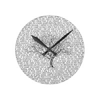 Walden Woods Literary Text Wall Clock