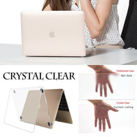 Mosiso Crystal Clear Plastic Laptop Hard Case Protective Shell Cover for MacBook Air 11 13 Pro 13 15 Retina 12