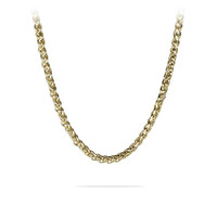 """20""""- 36"""" Mens Gold Stainless Steel Braided Wheat Chain Necklace"""