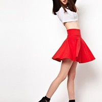 Lazy Oaf Circle Skirt With Pizza Zip at asos.com