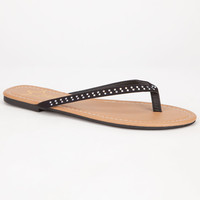 Celebrity Nyc Bling Womens Flip Flop Sandals Black  In Sizes