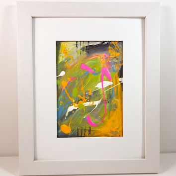 007 Original Abstract  Art on Paper. Free-shipping within USA.