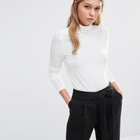 Fashion Union High Neck Top With Pleated Detailing at asos.com