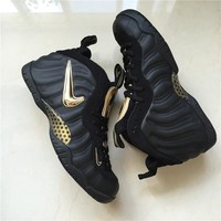 Air Foamposite Pro Black/Gold Sneaker Shoes 40-47