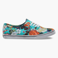 Vans Floral Authentic Lo Pro Womens Shoes Smoked Pearl/True White  In Sizes