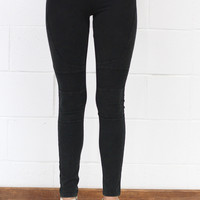 Mineral Washed Moto Leggings {Ash Black}
