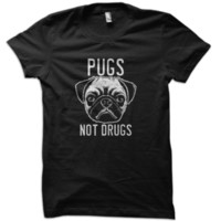Pugs Not Drugs T-Shirt from These Shirts