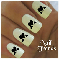 Heart Nail Decals  20 Vinyl Stickers Nail Art