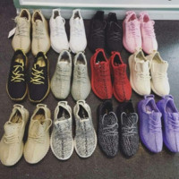 """Fashion """"Adidas"""" Women Yeezy Boost Sneakers Running Sports Shoes red black"""