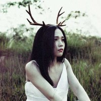Mori Antlers Brown Deer Horns Hair Band Headband Cosplay Headdress Halloween 1pc