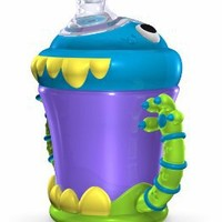 Nuby 3D Monster 2 Handle No Spill Super Spout, 7 Ounce