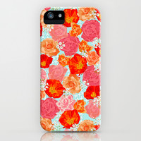 RING A RING O' ROSES -poppies & roses- iPhone & iPod Case by bows & arrows