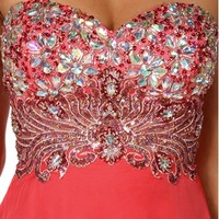 Pre-Order Lillian- Strapless Hi Lo Prom Dress