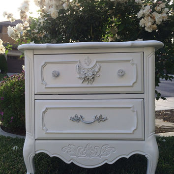 Two Matching Vintage French Provincial Nightstands by Stanley