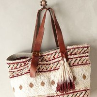 Tufted Gems Tote by Jasper & Jeera Neutral Motif One Size Bags