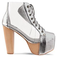 Jeffrey Campbell Cleata in Silver Clear at Solestruck.com