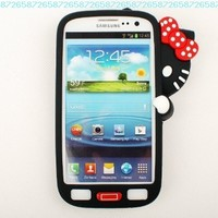 Evergreat Technology cute Hiding Hello kitty Silicone Soft Case cover For Samsung Galaxy S3 i9300