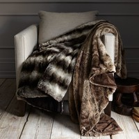 Faux-Fur Throw - Ombre