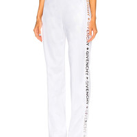 Givenchy Technical Neoprene Jersey Track Pants in White | FWRD