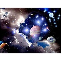5D Diamond Painting Planets Kit
