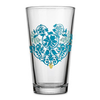 Mickey Mouse Icon Indigo Glass Tumbler