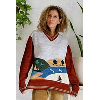 Vintage Medley Novelty Scenic Sweater