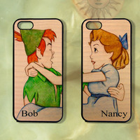 Customized Wendy & Peter Pan Couple Case-iPhone 5, iphone 4s, iphone 4 case, Samsung GS3-Silicone Rubber or Hard Plastic Case, Phone cover