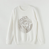 Versace Fashion casual loose turtleneck  Fall Winter Fashion Long Sleeve Pullover