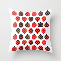 coccinelle Throw Pillow by Ioana Luscov