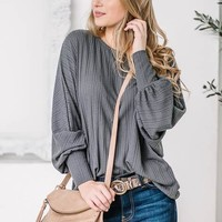 Casual Charcoal Knitted Pullover